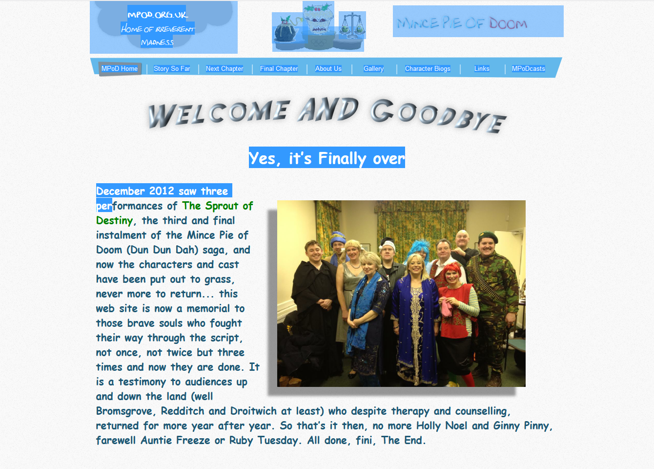 Mince Pie Of Doom Website
